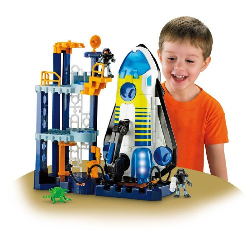 Building Toys For Little Boys : Compare imaginext space shuttle and tower vs pirate ship